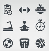 Fitness icon set — Stock Vector