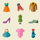 Fashion color icon set — Stock Vector