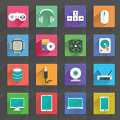 Computer and technology, media Icons, Hardware — Wektor stockowy