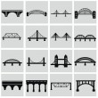 Bridges icons set — Stock Vector #50301359