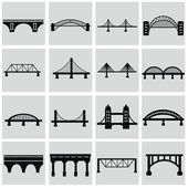 установить мосты иконки — Cтоковый вектор