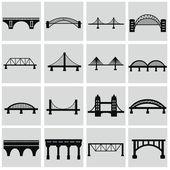 Bruggen pictogrammen instellen — Stockvector