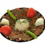 Kebab and Rice Pilaf — Stock Photo #32691035