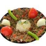 Kebab and Rice Pilaf — Stock Photo #32691221