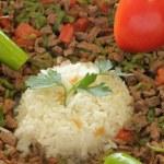 Kebab and Rice Pilaf — Stock Photo #32691225
