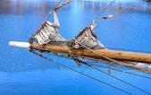 Bowsprit of a sailing vessel — Stock Photo