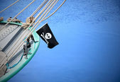 Un drapeau de pirate — Photo
