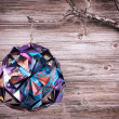 Christmas decoration made from recycled magazine paper - Stock Photo