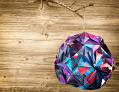 Decoration made from recycled magazine paper — Stock Photo