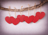 Red wooden heart — Stock Photo