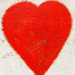 Red heart on  rusty background — Stock Photo