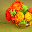 Bouquet of beautiful ranunculus flower in a vase — Stock Photo