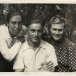 Постер, плакат: USSR Ukraine CIRCA 1940s: Portrait of brother and sisters