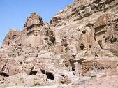 Siq canyon. Hidden city of Petra, Jordan. — Foto Stock