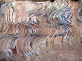 Sandstone gorge abstract pattern formation. — Stock Photo