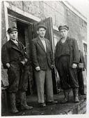 USSR, Ukraine - CIRCA 1950s: Vintage photo of unidentified miners. — Stock Photo