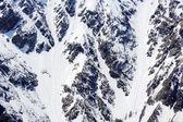 Textura de las montañas de nieve — Foto de Stock