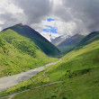 Caucasus green mountains — Stock Photo #21947301
