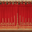 图库照片: Theatrical red curtain