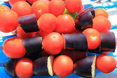 Red and violet raw vegetable — Stock Photo