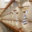 White and gold balustrade pattern — Stock Photo