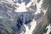 Snow mountains waterfall texture — Stock Photo