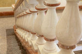 White and gold balustrade pattern — Stok fotoğraf