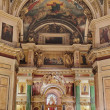 Russian orthodoxy cathedral temple interior — Stock Photo