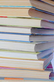Stack old hardcover books — Stock Photo
