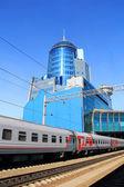 Modern railway station in Samara Russia — Stock Photo