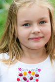 Cute girl five years old — Stock Photo