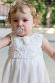 Cute infant with tear — Stock Photo