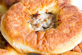 Russian Pie with meat — Stock Photo