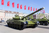 Victory parade of military machine — Stock Photo