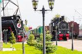 železniční silniční lokomotiva — Stock fotografie