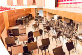 Empty orchestra pit in theatre — Stock Photo