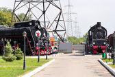 Spoor weg locomotief — Stockfoto