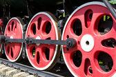 Old train wheel — Stock Photo