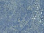 синий искусства фон с цветком — Стоковое фото