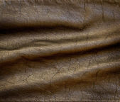 Closeup detail on old leather texture background. — Stock Photo