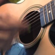 Playing the Guitar — Stock Video