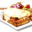 Gratin grill cheese - Stock Photo