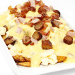 Breakfast poutine — Stock Photo