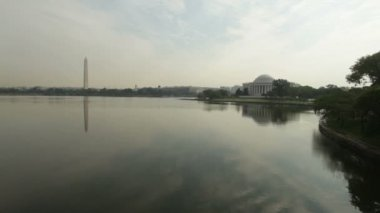 Jefferson memorial in Washington DC. — Stock Video