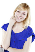 Beautiful blonde woman in casual attire — Stock Photo