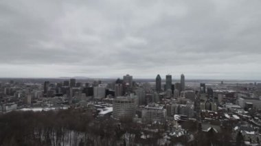 Montreal downtown in winter — Stock Video