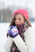 Cold, warm me — Stock Photo