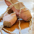 Two ballerinas shoes — Stock Photo
