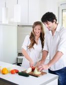 Together we will prepare meals — Stock Photo