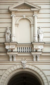 Two sculptures in the town hall in Novi Sad — Stock Photo